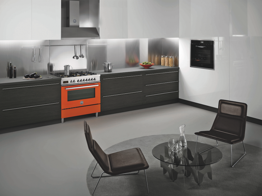 Bertazzoni Orange Range In Kitchen