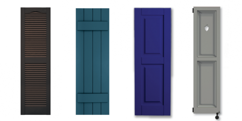 4 exterior shutter options residential products online - Different styles of exterior shutters ...