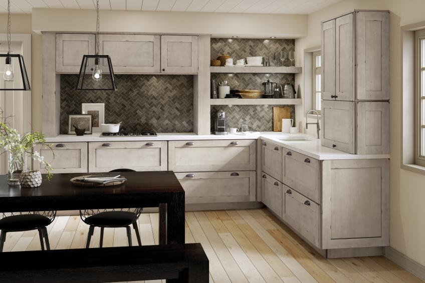 Kraftmaid Aged kitchen cabinets