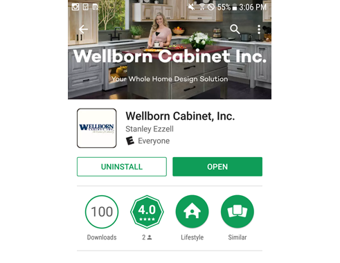 Wellborn cabinet inc mobile app now available in apple - App to change color of kitchen cabinets ...