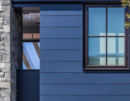 Boral truexterior fly ash siding nickel gap blue house