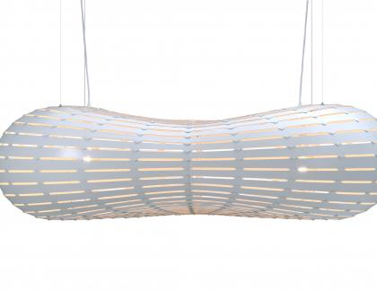 David Trubridge Cloud pendant in White silo