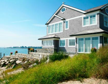 Derby Building Products beach house shake atlantica exterior siding house near water