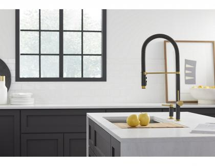 Kallista mixed metals kitchen faucet