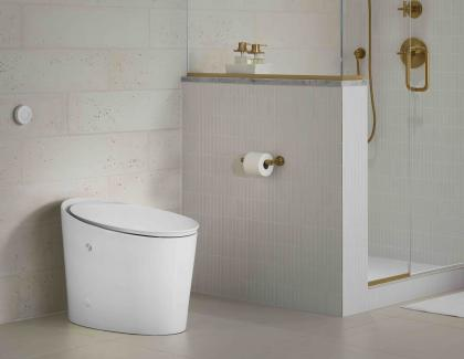 Kohler Avoir Intelligent Toilet Installed Modern Bath