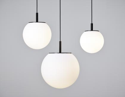 Modern light sphere matte luxury