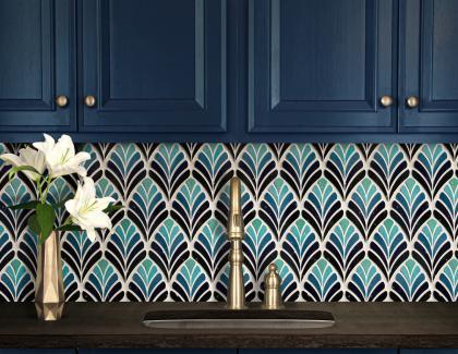 New Ravenna tile mosaic mid-century modern