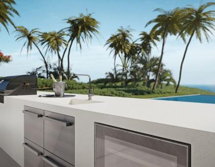 Quartz outdoor exterior countertop