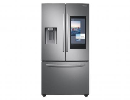Samsung Family Hub Fridge Front with Screen Silver