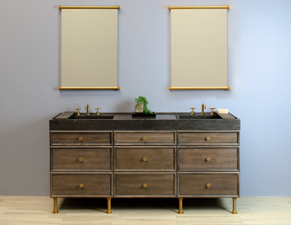 Stone Forest Elemental Modular System Double Ventus Sink Vanity
