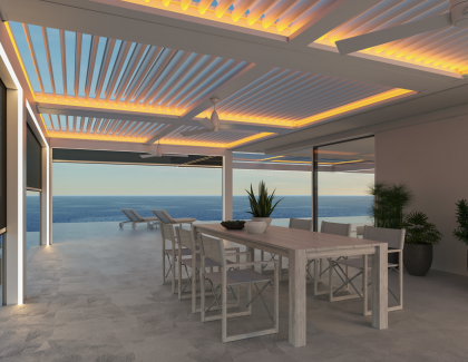 StruXure pergola TraX luxury outdoor