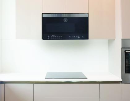 Vinotem Brama 30inch Over Range Microwave Oven Installed