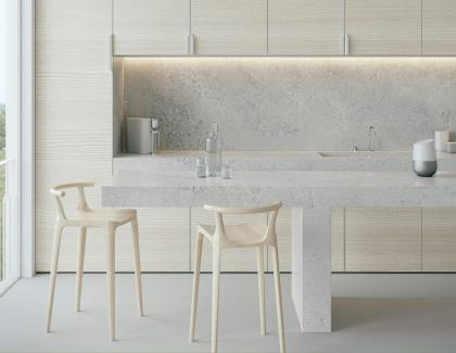 caesarstone airy concrete counter