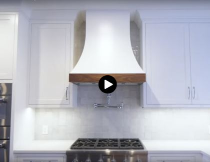Custom range hood by NS Builders