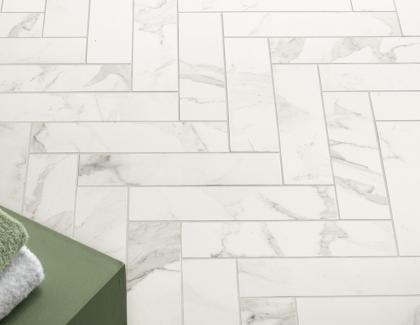 Calacatta Walker Zanger porcelain marble