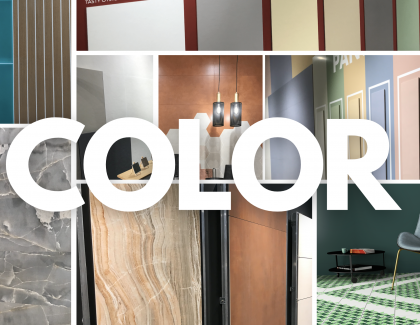 the colors defining ceramic tile are simple, soft, bright, muted colors that are natural, like blue, green, and terra cotta