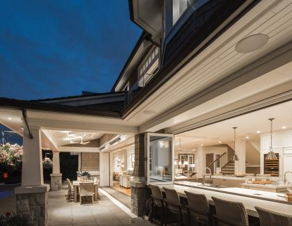 Kolbe-Windows and Doors 2020 Ultra Folding Window Nigh shot looking into house