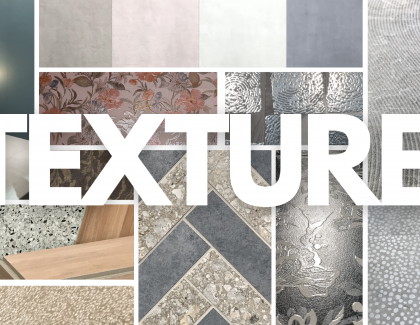 the popular textures of ceramic tile at Italy's Cersaie