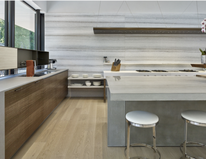 Cheng concrete countertop hero image in luxury modern kitchen