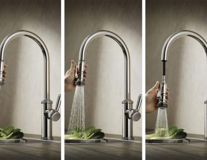 kitchen squeeze down handle faucet