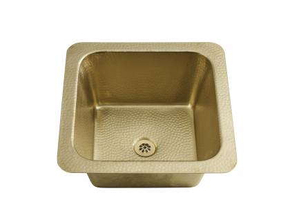 square prep bar sink brass