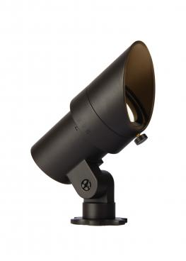 this watertight mini LED accent light is made from solid brass or corrosion-resistant aluminum