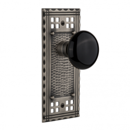 Nostalgic Warehouse black porcelain door knob