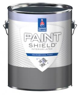 Sherwin-Williams says its new Paint Shield is the first Environmental Protection Agency-registered paint that kills 99.9 percent of bacteria after two hours of exposure on painted surfaces