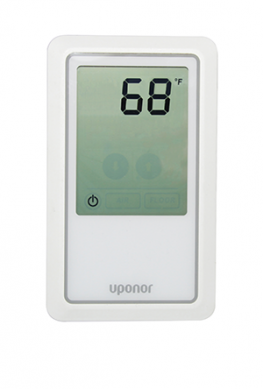 The manufacturer has launched its first-ever touchscreen radiant thermostat for heat-only applications. Designed for temperature control of residential hydronic radiant, it operates a system by air sensor measuring, a floor sensor, or a combination of both. The new unit replaces the company's existing heat-only thermostat