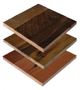 Viridian Stacked Oak reclaimed wood panels