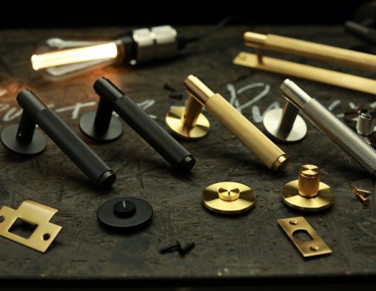 Buster Punch DOOR Collection Black Brass Smoke Brass Door handles