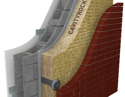 CAVITYROCK®DD is a high-density, semi-rigid insulation board designed for exterior cavity and rainscreen applications. Offering durability, enhanced strength and an R-value of 4.3/inch, CAVITYROCK®DD provides valuable thermal, fire and moisture protection. Compatible with most air/vapor barrier systems, adhesives and wall ties, it is available in thicknesses from 2.5 to 6 inches.