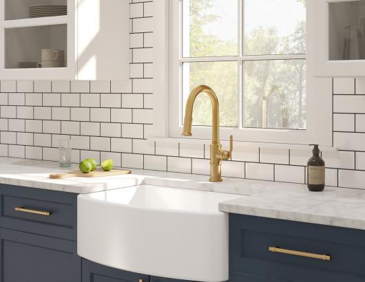 Gerber brushed bronze faucet