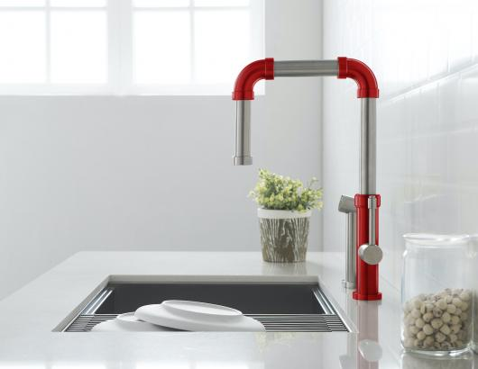 Isenberg Faucets Tanz Side view Crimson