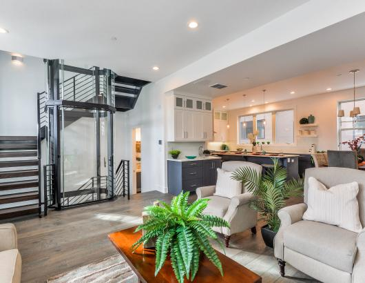 Library park townhome elevator