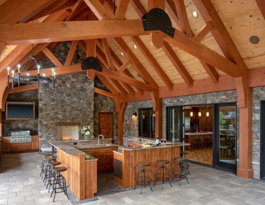 Outdoor kitchen cabin architecture design