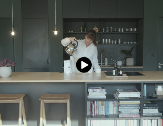 Natalie Jones in Modern Kitchen, Paints by Farrow and Ball
