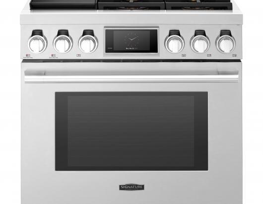 Signature Kitchen Pro Range sksdr 36 inch with sous vide front