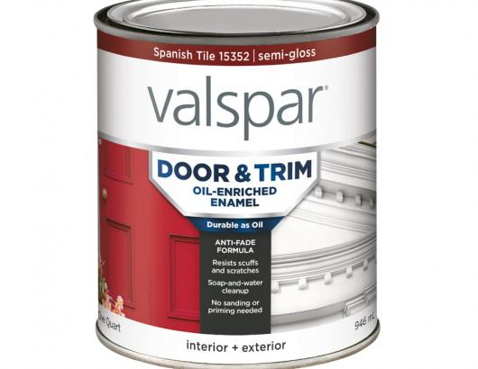 The brand's new oil-enriched door and trim enamel features a formulation that delivers the durability and adhesion of an oil-based paint but with the ease of use and cleanup of latex, the company says. It offers anti-fade, stay-true color technology, all-weather protection, and a smooth application that dries to a semi-gloss finish. The paint comes in three ready-mixed hues and can be tinted to 1,000+ colors.