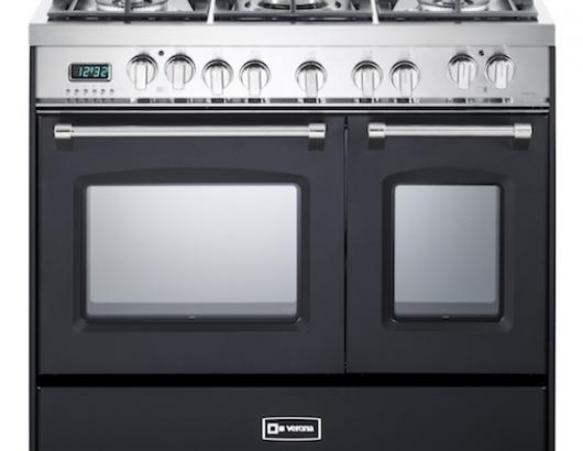 Verona Prestige 36 inch range with Double Oven Black Front