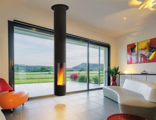Focus Fires Slimfocus Suspended Red Chair Living Room