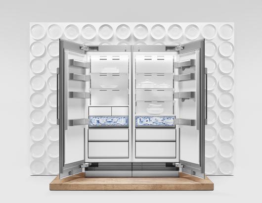 Dacor porcelain Atelier Edition refrigeration columns