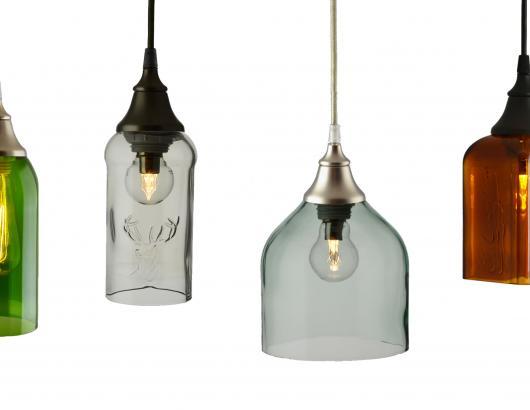 Metro Lighting Bottle Glass pendants
