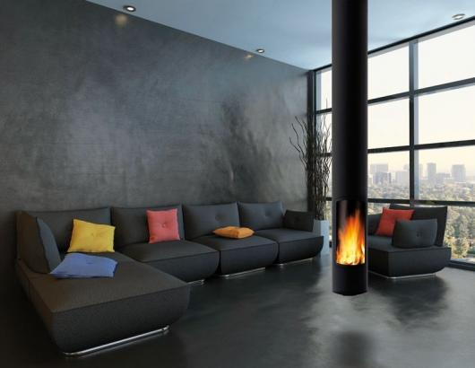 Focus Fireplaces slimfocus suspended
