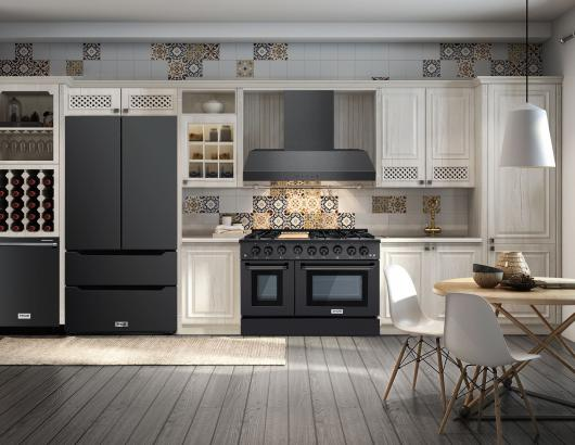 Thor Kitchen Black Stainless Steel Suite White Kitchen