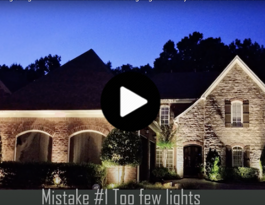 how to light landscaping
