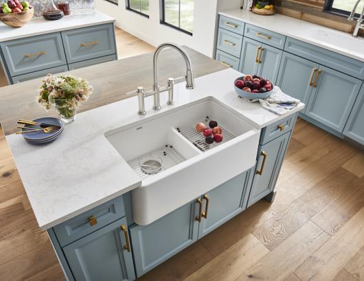 Ikon Low Divide Farmhouse Kitchen Sink