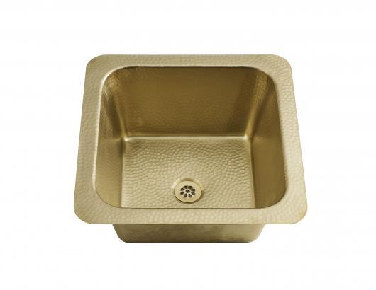 square prep bar sink brass