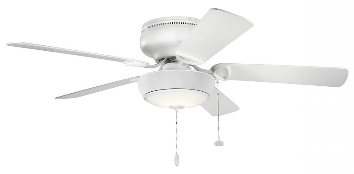 Bluetooth ceiling fan light from Kichler on a five-blade fan