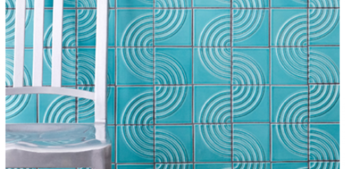 Clayhaus Ceramics Signal Collection Textured Tile Radius Pattern